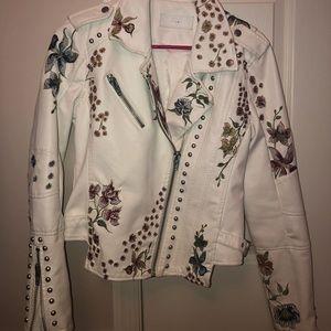 BLANKNYC white leather jacket